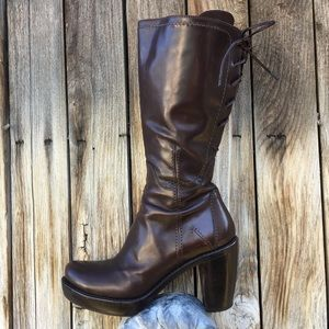 Costume National Vintage Sandy Lace Up Boot Brown